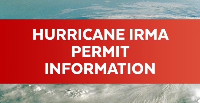 Hurricane Irma Permit Information
